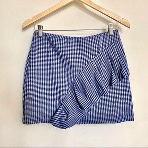 Topshop Gingham Skirt
